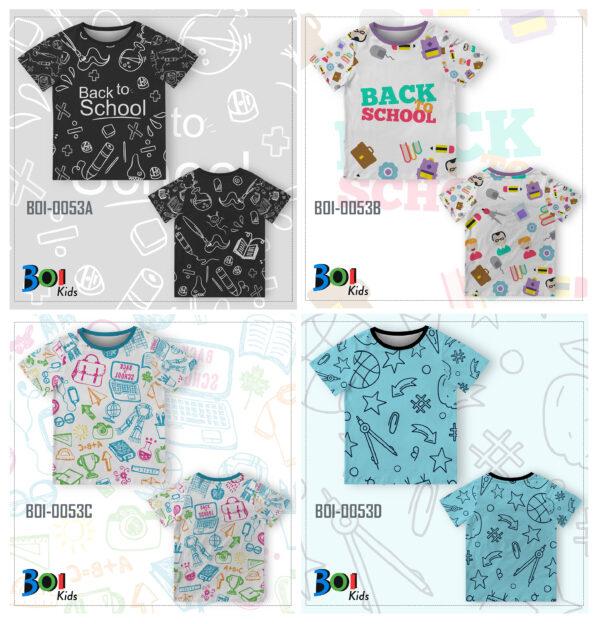 Baju Kaos Anak Back To School | WA 0812-2411-6545
