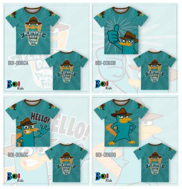 Kaos Anak Laki Laki Perry Platypus | WA 0812-2411-6545